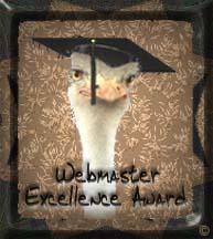 Webmaster Excellence Award